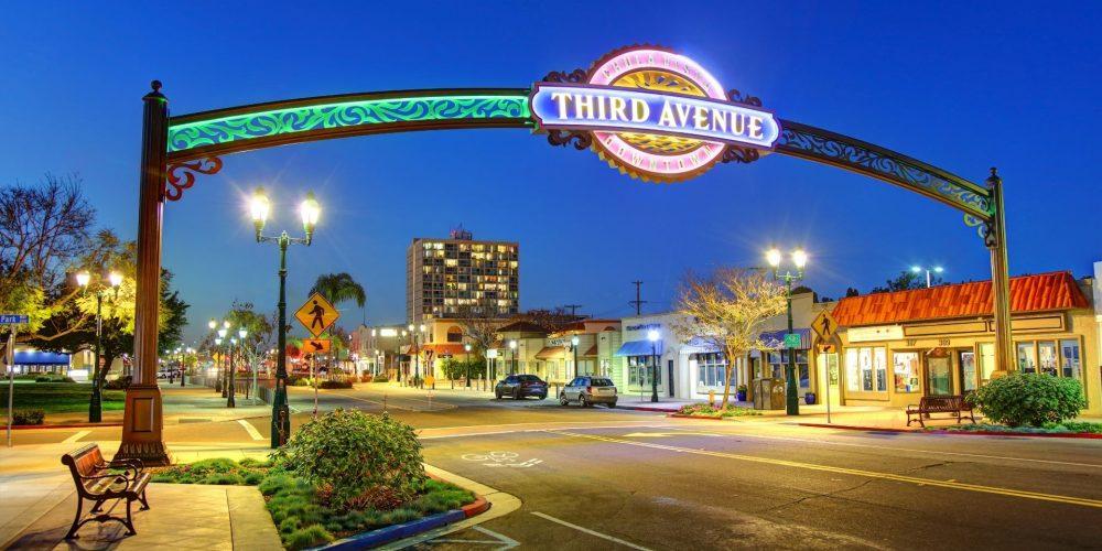 Third Avenue Chula Vista CA street sign